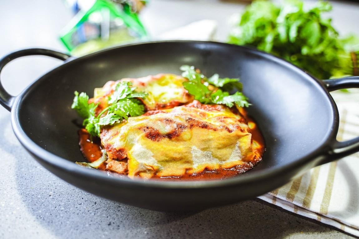 Chicken and Vegetable Enchiladas