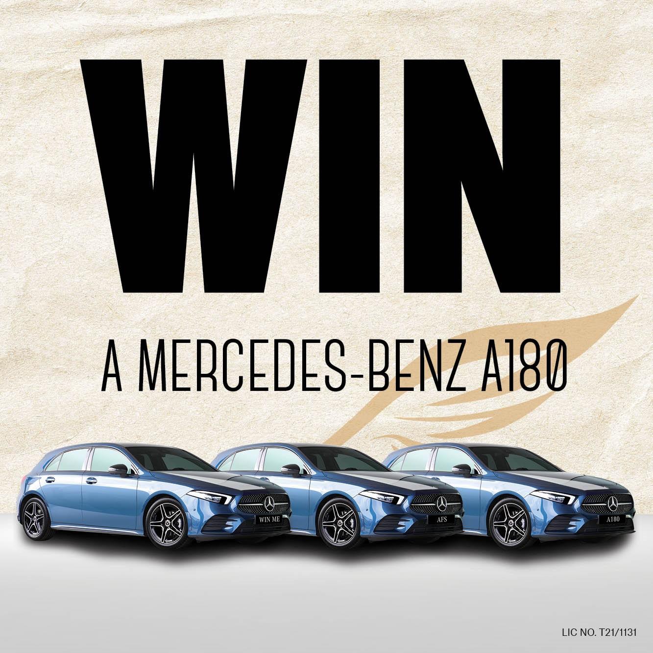 Win a Mercedes-Benz A180!